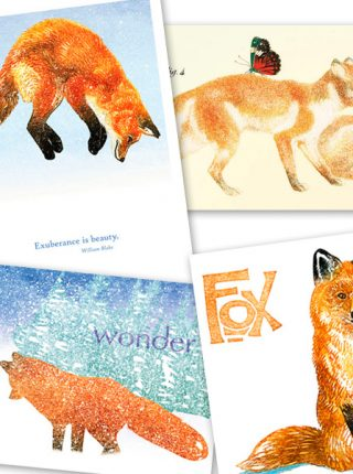 Foxes Notecard Set