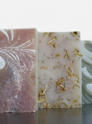 Our May Special includes 3 beautiful bars of soap at a great discount: Refresh, CinnaMint, and Double Mint soaps for just $9.