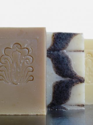 Our November Special includes 3 beautiful bars of soap at a great discount: Chai Tea, Oatmeal Spice, and Lemongrass soaps for just $9.