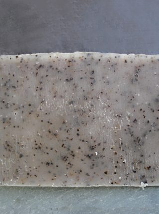 Coffee Scrub Soap is perfect for the tough stuff, like pine pitch and paint brushes.