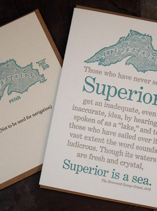 Letterpress Lake Superior Notecards Set